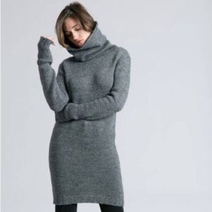 H&M Soft Oversized Turtleneck Sweater Dress